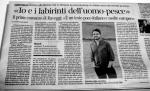 Vanni Santoni Corriere Fiorentino 11 dicembre