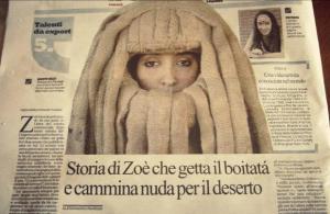 La Repubblica Zoè Gruni particolare 05 febbraio 2013